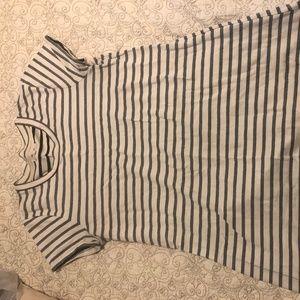 Madewell size M grey striped t-shirt dress